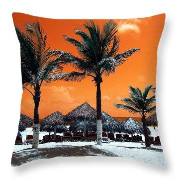 Throw Pillow featuring the photograph Punta Cana Portrait Pop Art by John Rizzuto