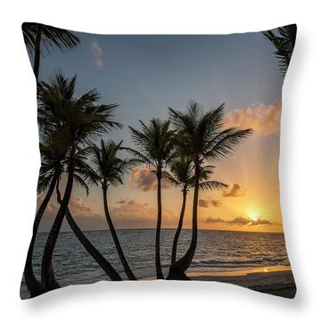 Throw Pillow featuring the photograph Punta Cana Sunrise by Adam Romanowicz