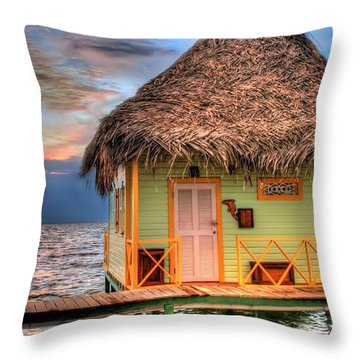 Punta Caracol Throw Pillow by Dolly Sanchez