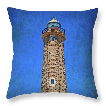 Throw Pillow featuring the photograph Punto Doncela Lighthouse by Mary Machare