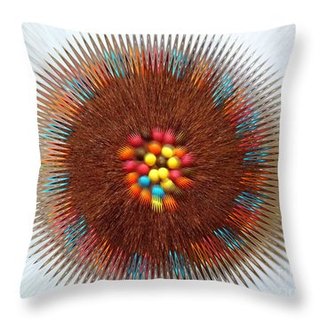 Throw Pillow featuring the photograph Pupil by Beto Machado
