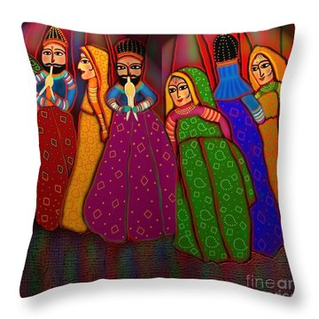 Puppet Show Throw Pillow by Latha Gokuldas Panicker
