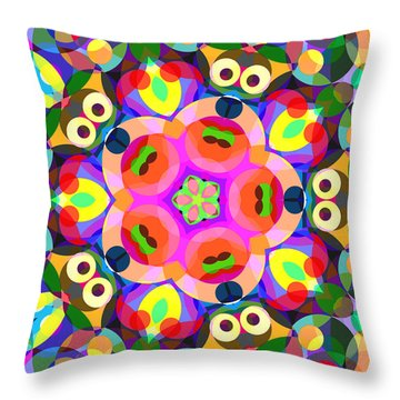 Puppy Eyes Throw Pillow by Shawna Rowe