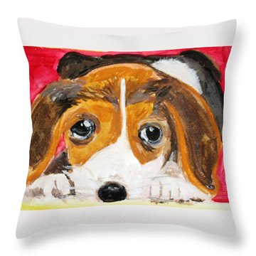 Puppy For Love Throw Pillow