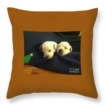 Puppy Love Throw Pillow by MaryLee Parker