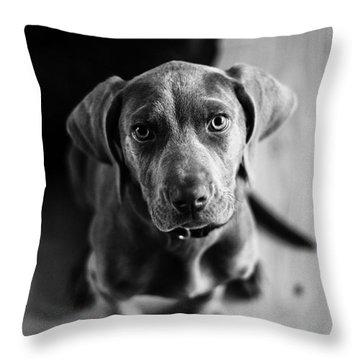 Puppy - Monochrome 1 Throw Pillow