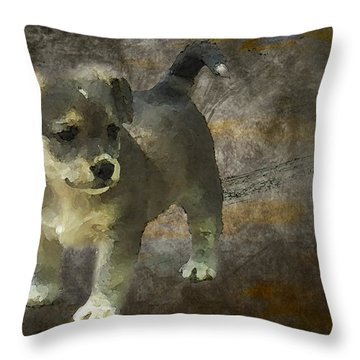 Puppy Throw Pillow by Svetlana Sewell
