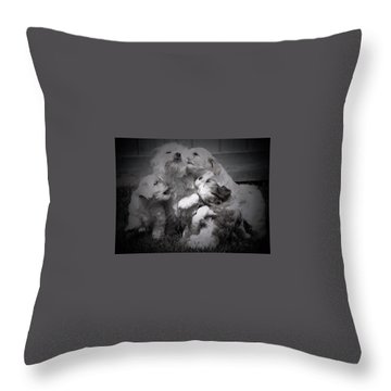 Puppy Vignette Throw Pillow
