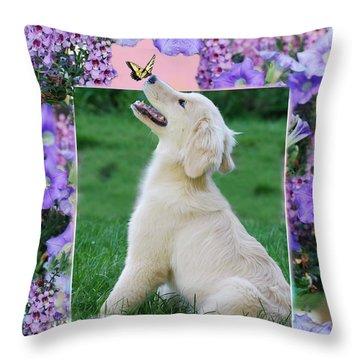 Puppy's World Throw Pillow