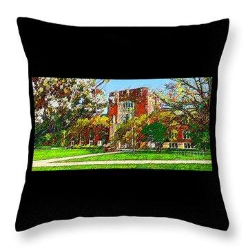Purdue University Throw Pillow