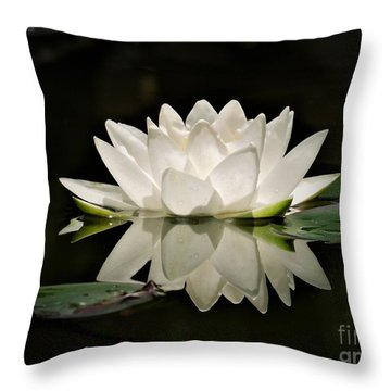 Pure And White Throw Pillow