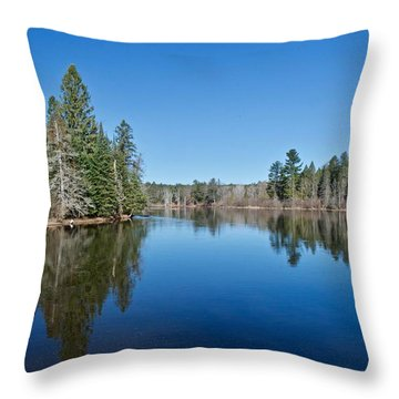 Pure Blue Waters 1772 Throw Pillow by Michael Peychich