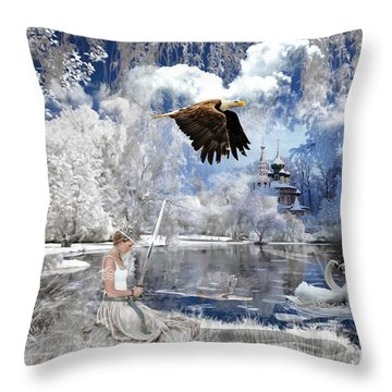 Pure Hearted Warrior Throw Pillow