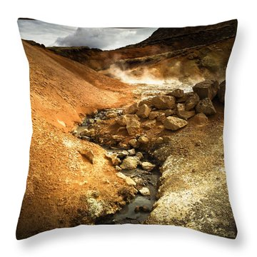 Pure Iceland - Geothermal Area Krysuvik Throw Pillow