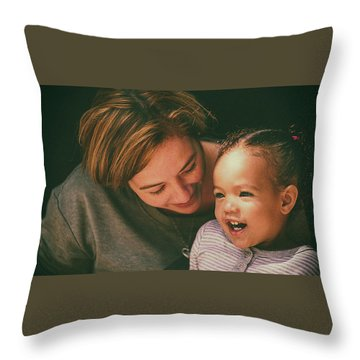 Throw Pillow featuring the photograph Pure Joy by Ryan Smith