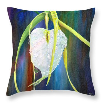 Throw Pillow featuring the painting Pure Love by AnnaJo Vahle