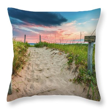 Throw Pillow featuring the photograph Pure Michigan Sunset by Sebastian Musial