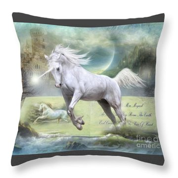 Pure Of Heart Throw Pillow