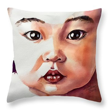Throw Pillow featuring the painting Pure Potential by Michal Madison