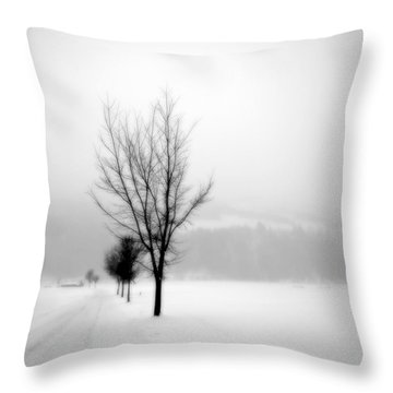 Pure White II Throw Pillow