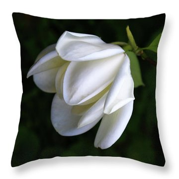 Purity In White Throw Pillow