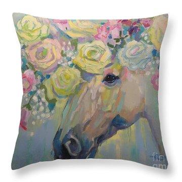 Purity Throw Pillow by Kimberly Santini