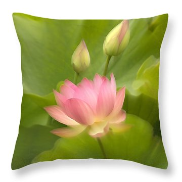 Throw Pillow featuring the photograph Purity Reborn by John Poon