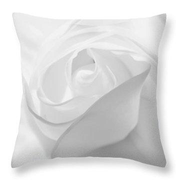 Purity - White Rose Throw Pillow