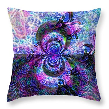 Purple Abstraction Throw Pillow