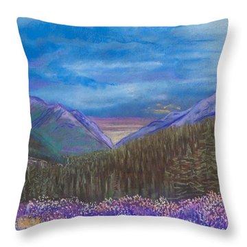 Purple Alaska Throw Pillow