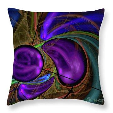 Throw Pillow featuring the digital art Purple Anyone by Deborah Benoit