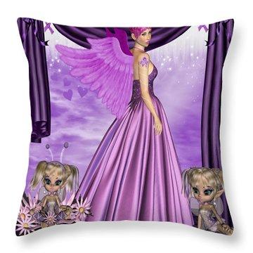 Purple Awareness Throw Pillow