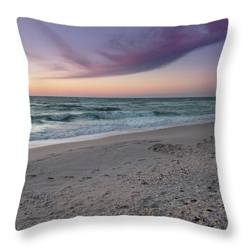 Purple Beach Throw Pillow