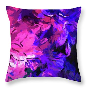 Purple Behind Pink Throw Pillow