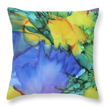 Purple Bird Of Paradise Throw Pillow