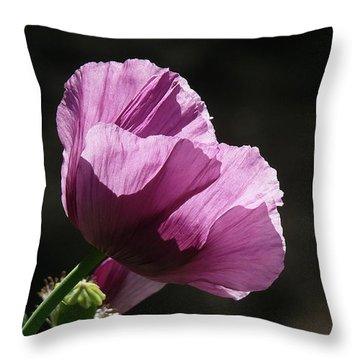 Purple Blessing Throw Pillow