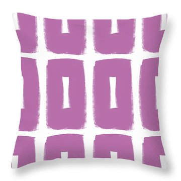 Purple Boxes- Art By Linda Woods Throw Pillow