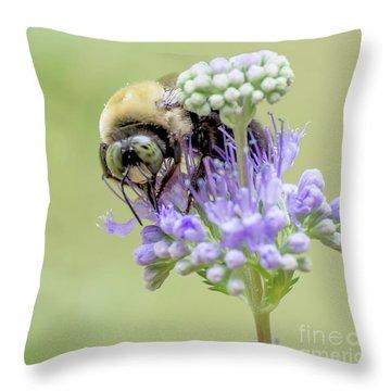 Purple Breakfast Throw Pillow