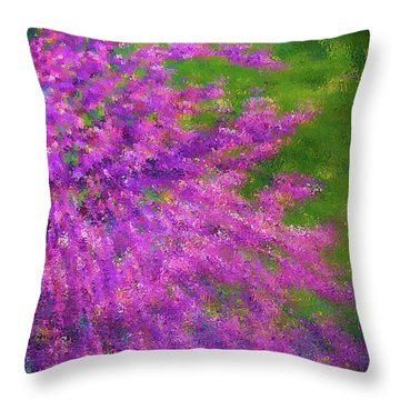 Purple Bush Throw Pillow