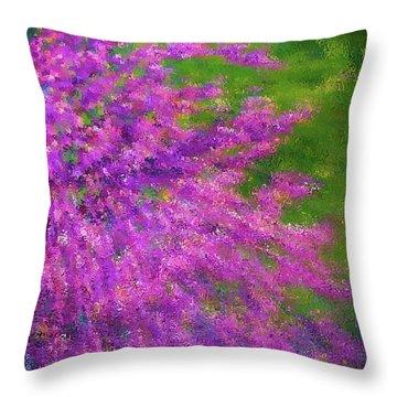 Purple Bush Throw Pillow