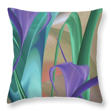 Purple Calla Lilies Throw Pillow