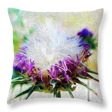 Purple Chaparral  Throw Pillow