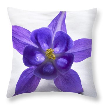 Purple Columbine Throw Pillow