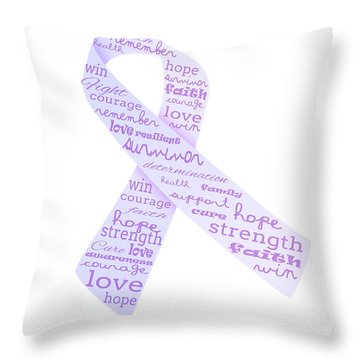 Purple Courage Throw Pillow