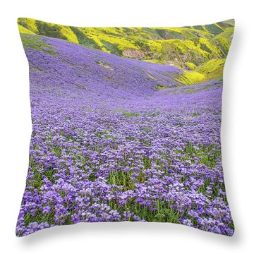 Purple  Covered Hillside Throw Pillow