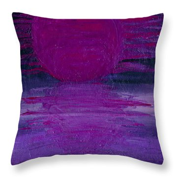 Throw Pillow featuring the painting Purple Dawn by Ania M Milo