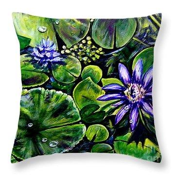 Purple Dawn Throw Pillow by Elizabeth Robinette Tyndall