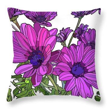 Purple Days Throw Pillow by Jamie Downs