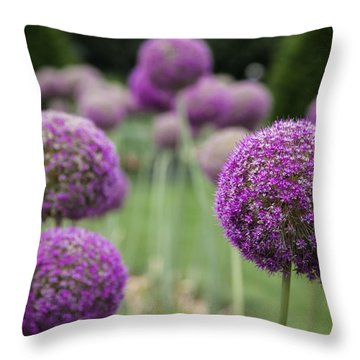 Throw Pillow featuring the photograph Purple Depth by Jason Moynihan
