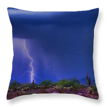 Purple Desert Storm Throw Pillow by James BO  Insogna